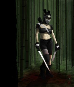 Dark Ninja Queen - Digital Painting
