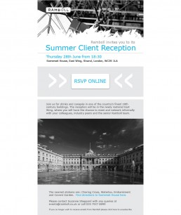 Somerset House Email Invitation - browser
