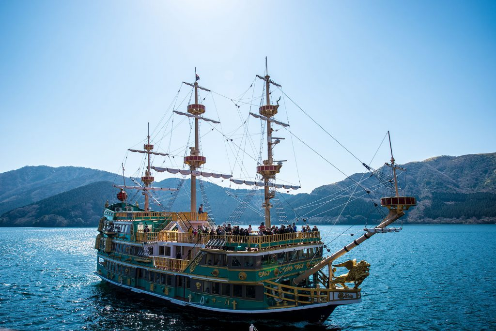 Pirate Ship across Lake Ashi