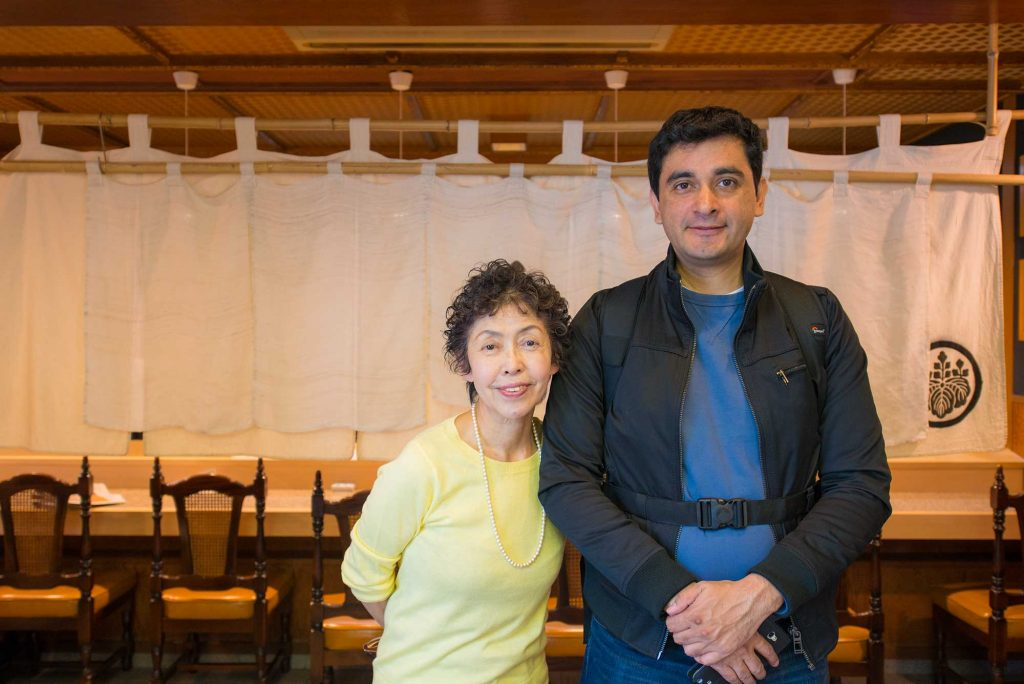 The wonderful Shinko san standing next to Jose - thank you for your hospitality!