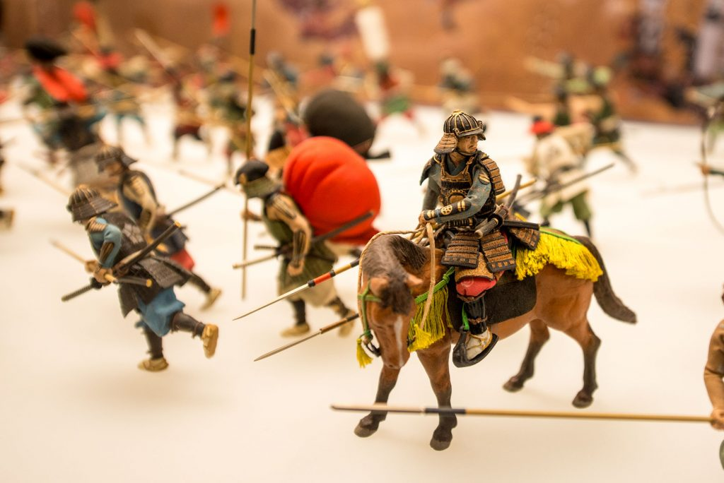 One of the model exhibits at Osaka Castle