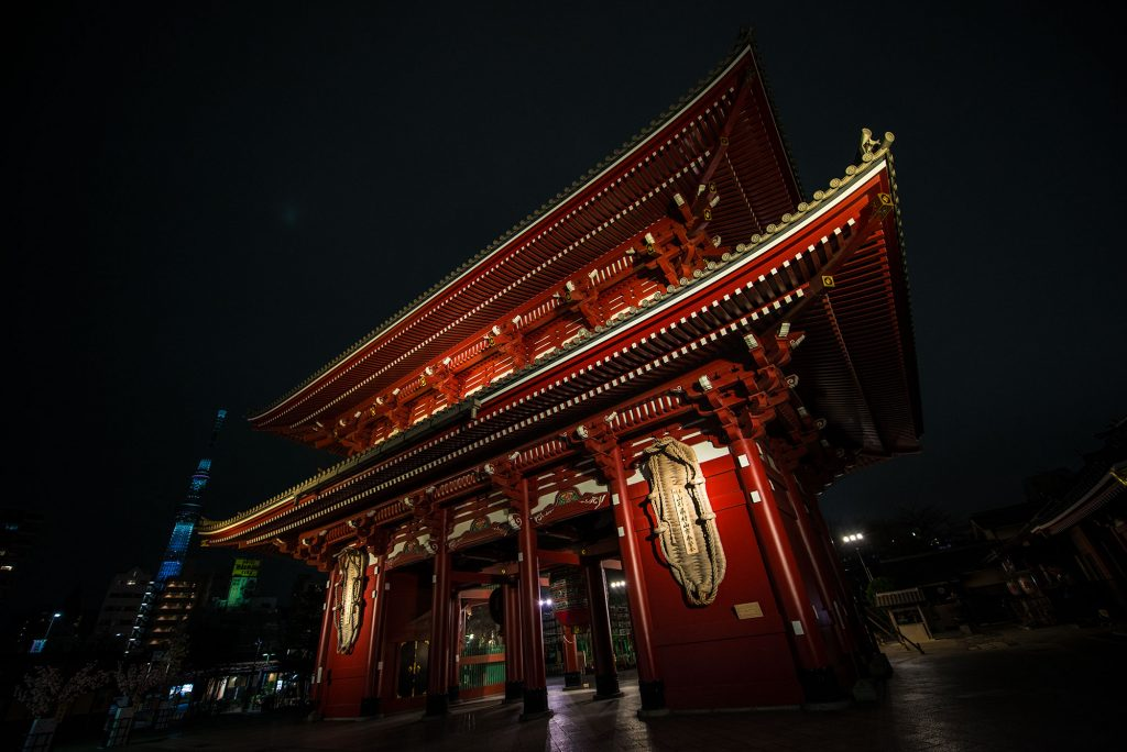Senso-ji - Tokyo's Oldest Temple at Night