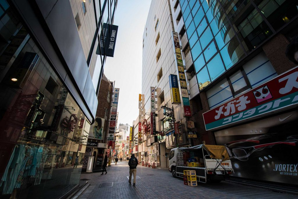 the back streets of Shinjuku