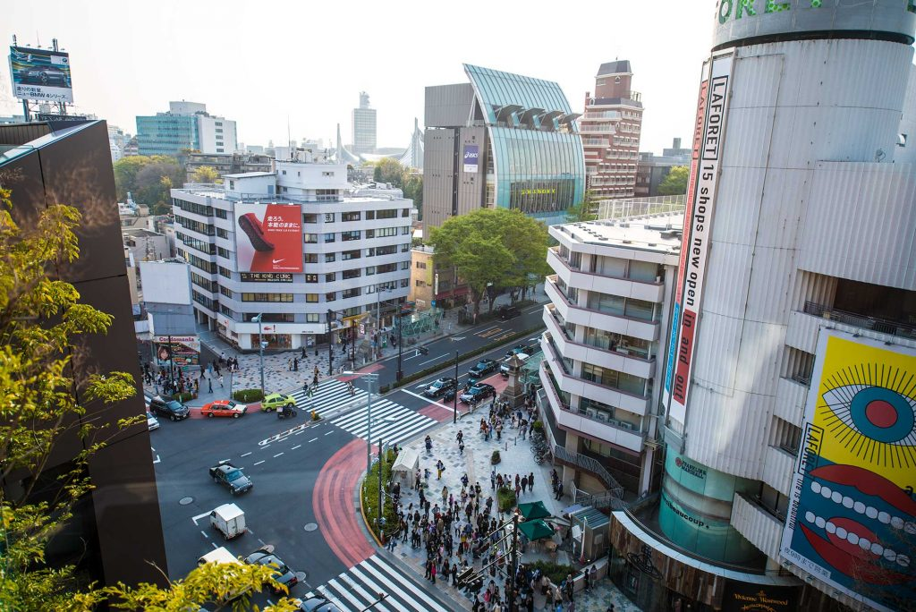 An Aerial view of Harajuku