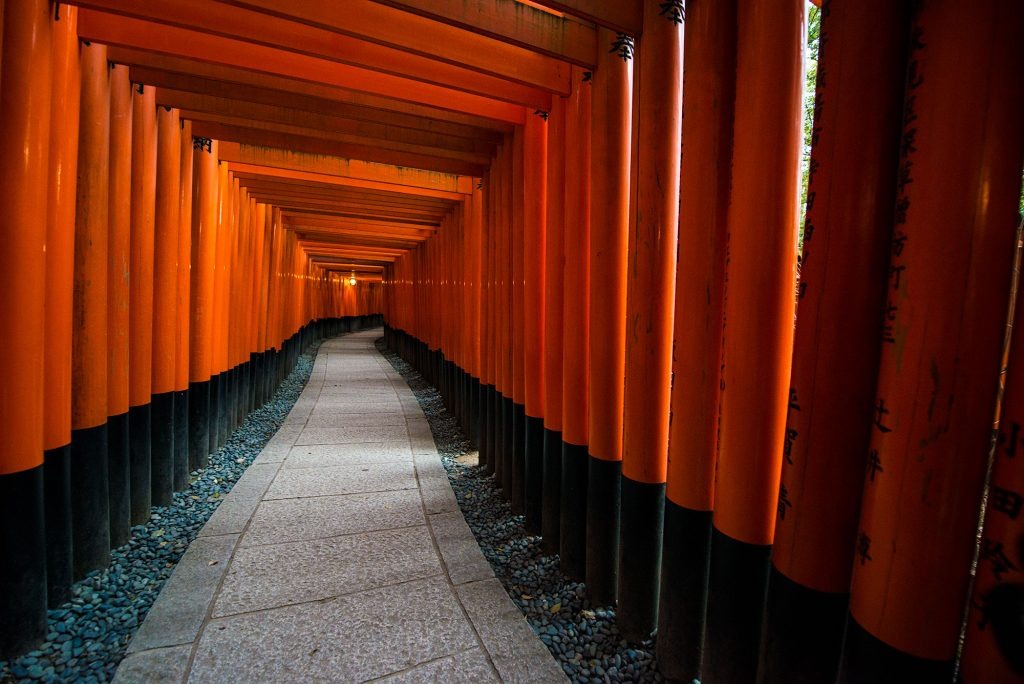 Inari Jinja is most famous in the West for it's appearance in Memoirs of a Geisha
